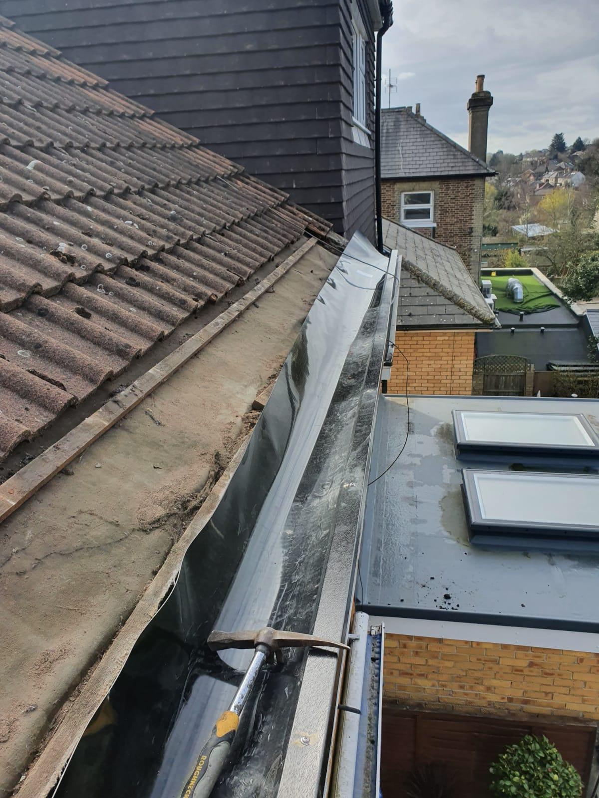 Residential gutter lining